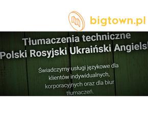 Tłumaczenia Ukraiński Rosyjski Angielski
